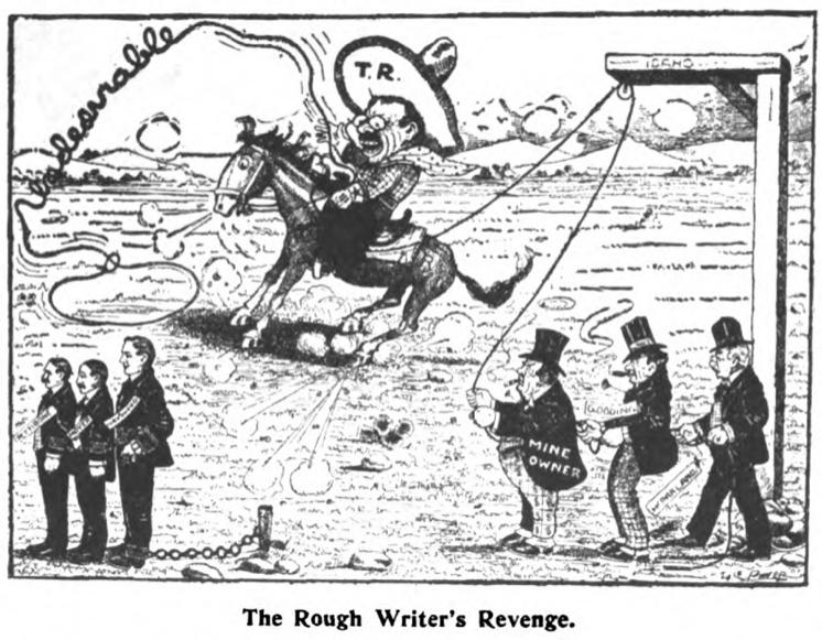 HMP, Undesirable Citizen, TR Cartoon, Wilshires June 1907
