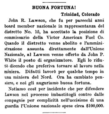 John Lawson Free, Buona Fortuna, UMWJ p19, June 7, 1917