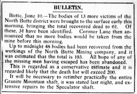 Speculator MnDs, Bulletin, Dly Missoulian, June 10, 1917