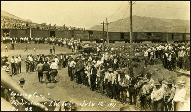 Bisbee Deportation, IWW to Cattle Cars, July 12, 1917
