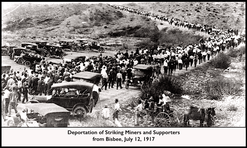 Bisbee Deportation Miners and Supporters July 12, 1917