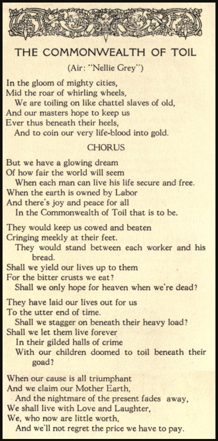 Commonwealth of Toil by Ralph Chaplin, Leaves 1917