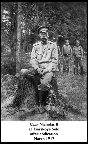 Czar Nicholas II, March 1917, wiki