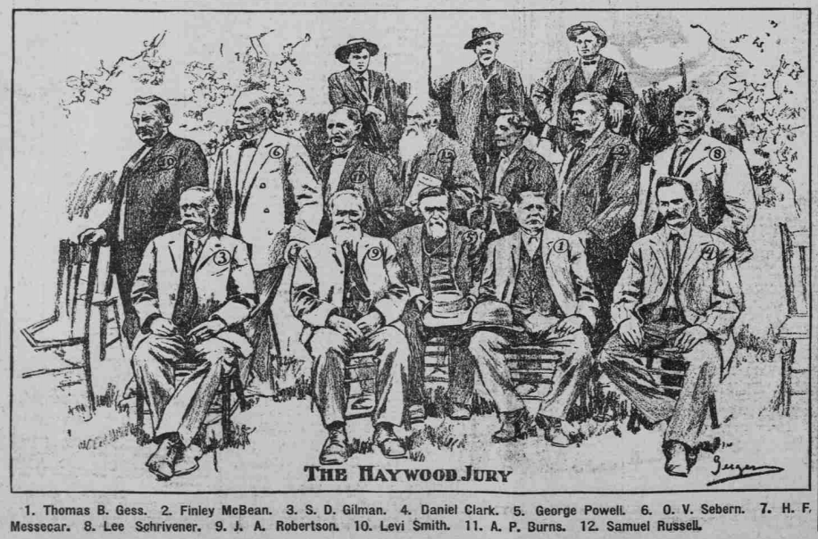HMP, Haywood Jury, Tpk Dly Jr, July 29, 1907