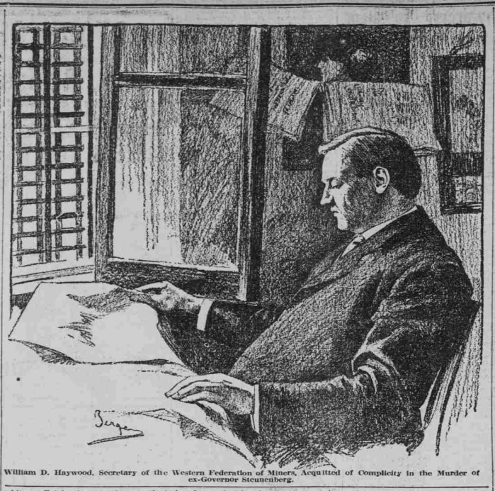 HMP, Haywood Reads at Jail Window, Tpk Dly Jr, July 29, 1907