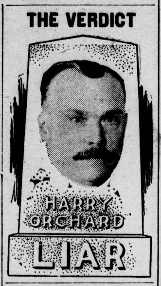 HMP, Verdict Orchard Liar, Spk Prs, July 29, 1907