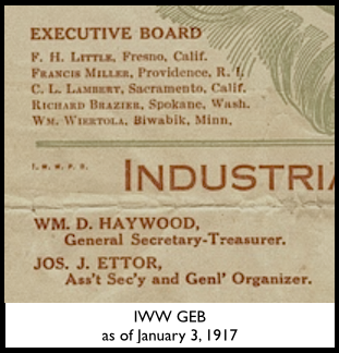 IWW GEB as of Jan 3, 1917