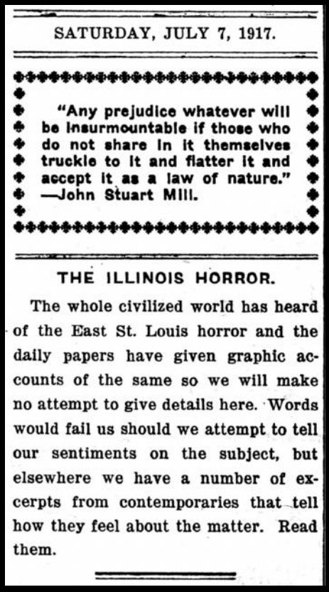 The Appeal, re St Louis Riots, July 7, 1917