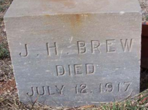 WNF James H Brew, Tombstone, d. July 12, 1917