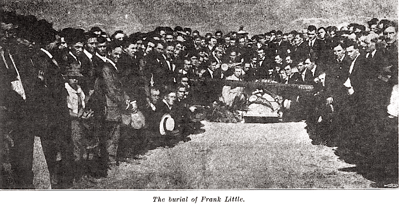 Frank Little Funeral, At Grave, Lbr Def, Aug 1926, 2