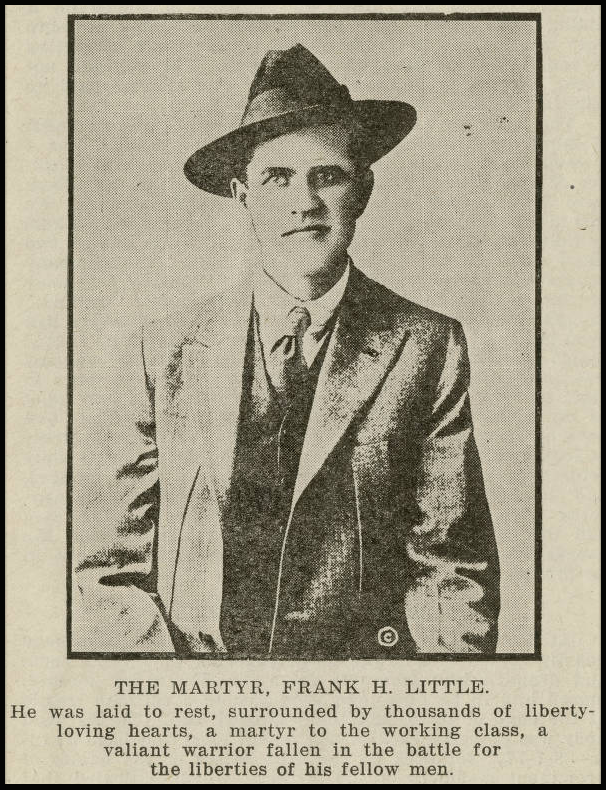 Frank Little Martyr, Truth About Butte Tompkins, 1917