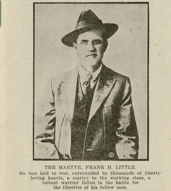 Frank Little Martyr, Truth Butte Tompkins, 1917