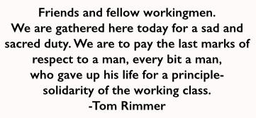 Frank Little Quote by Tom Rimmer