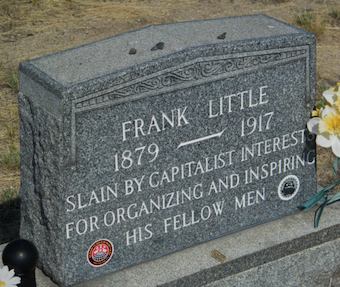 Frank Little Tombstone, FaG