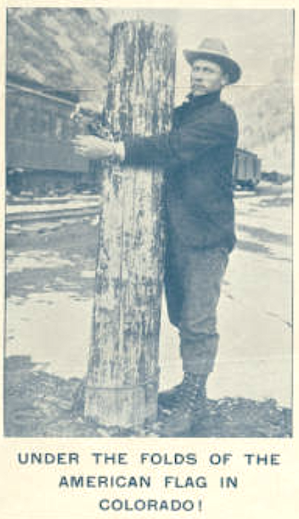 Henry Maki WFM Telluride, Chained to Pole Mar 2, 1907