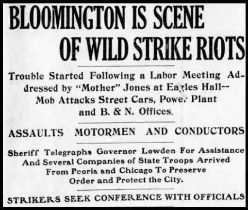 MJ, Bloomington IL Riot 2, Pgr, July 6, 1917