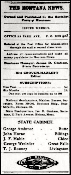 Montana News, Ed Ida Crouch-Hazlett, Aug 8, 1907