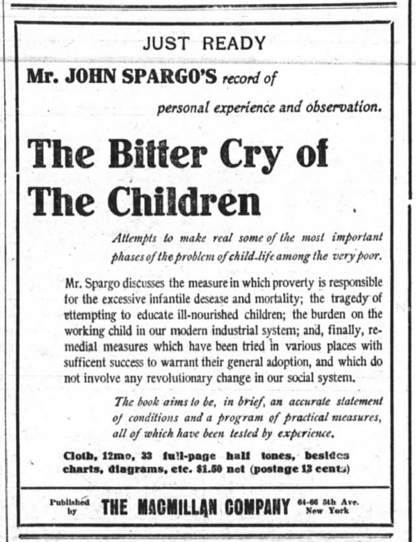 Bitter Cry of Children, Spargo, NYT, Feb 17, 1906
