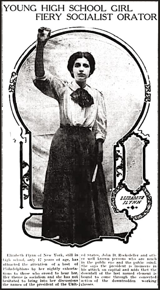 EGF, Fiery Girl Socialist, Grt Fls Tb p1, Sept 21, 1907