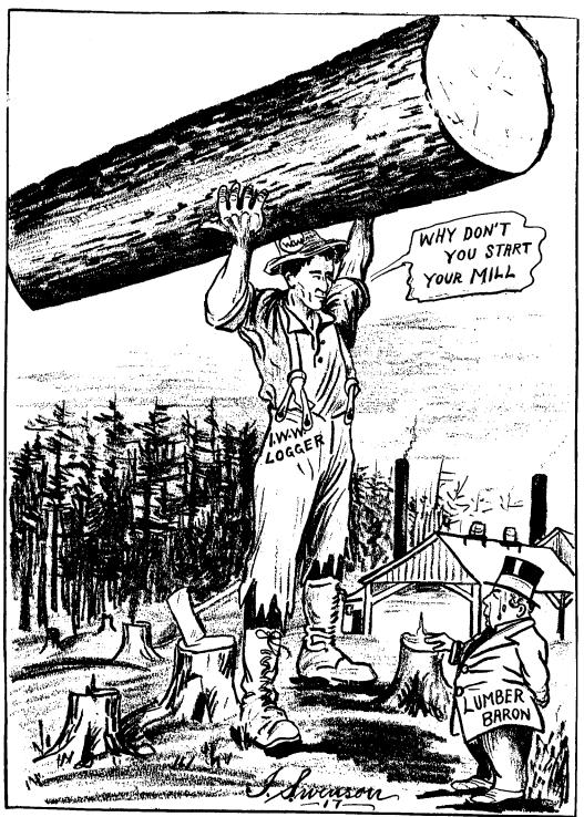 IWW Logger & Lumber Baron, Swenson, IW Aug 25, 1917