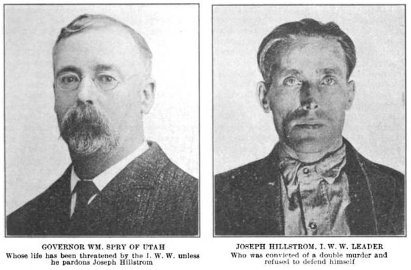 Sunset Magazine, Nov 1915, UT Gov Spry, Joe Hill, Hillstrom