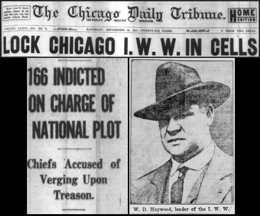 WWIR, IWW Arrests w BBH added, Chg Dly Tb, Sept 29, 1917