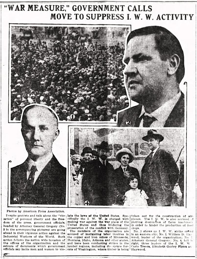 WWIR, IWW, BBH EGF Tresca, Mryvl Jr OH, Sept 10, 1917