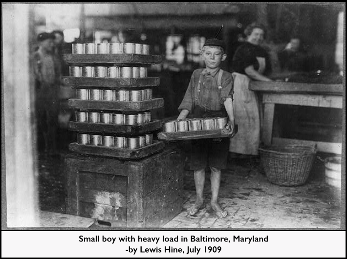 Child Labor, Baltimore Cannery, Lewis Hine, July 1909, LOC