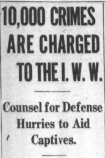 IWW, 10000 Crimes, Chg Tb, Sept 30, 1917