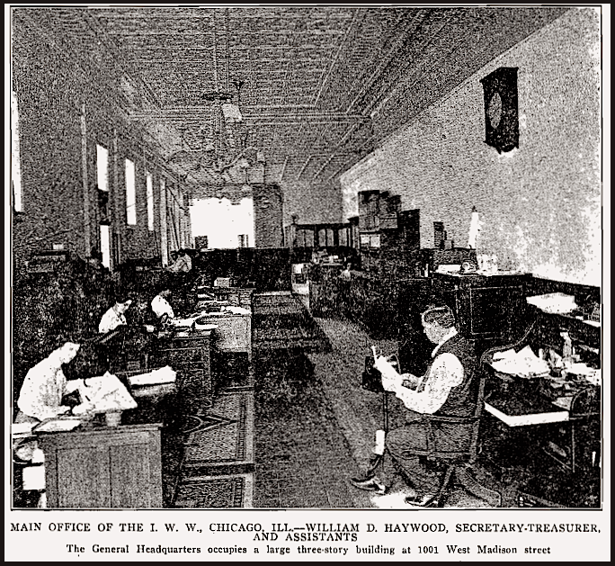 IWW Chg HQ w BBH, ISR Oct 1917