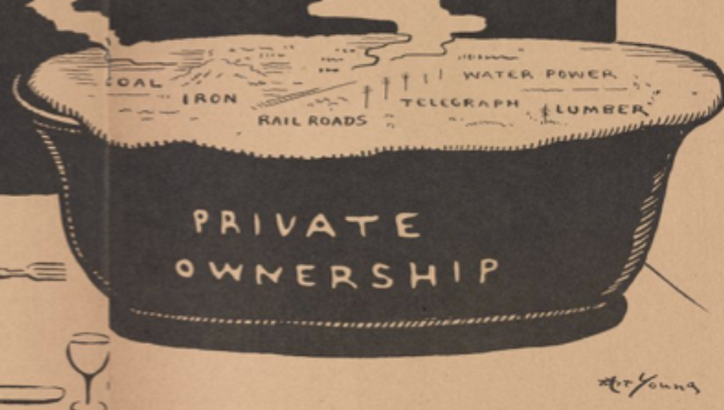 Private Ownership, Piece of Pie by Art Young Detail 1, Masses Nov 1917