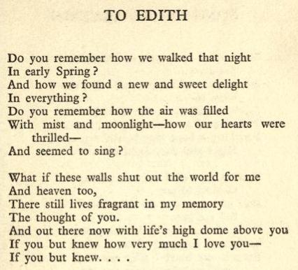Ralph Chaplin, Bars and Shadows, to Edith