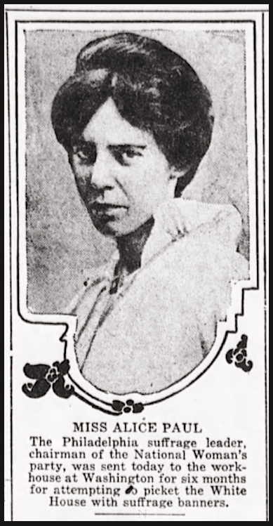 Suffragists, Alice Paul, Eve Pb Ldg p1, Philly, Oct 22, 1917
