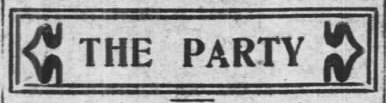 THE PARTY Socialist Party of Am, AtR, Sept 14, 1907