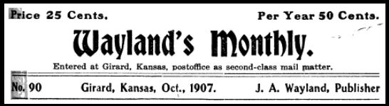 Waylands Monthly, Oct 1907