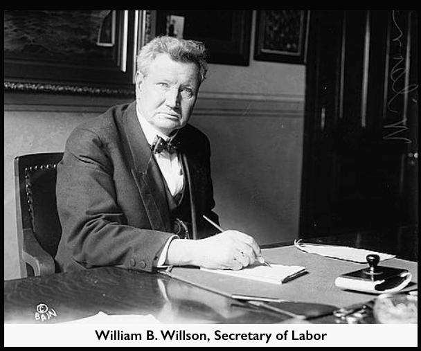 William B Wilson, Sec of Labor, LOC ab 1913