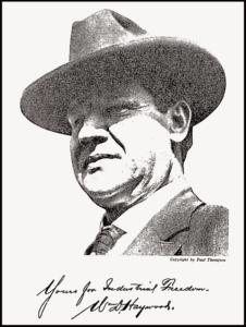 Big Bill Haywood, ISR, Nov 1917