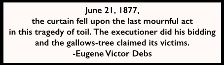 EVD Quote re June 21 1877 PN Martyrs, AtR 11-23-1907