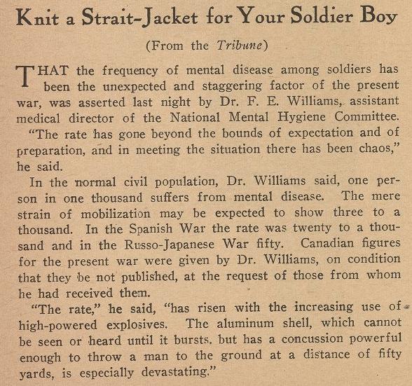 John Reed, Strait Jacket Solidier Boy, Masses, Aug 1917
