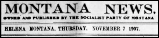 SPA, Montana News, Nov 7, 1907