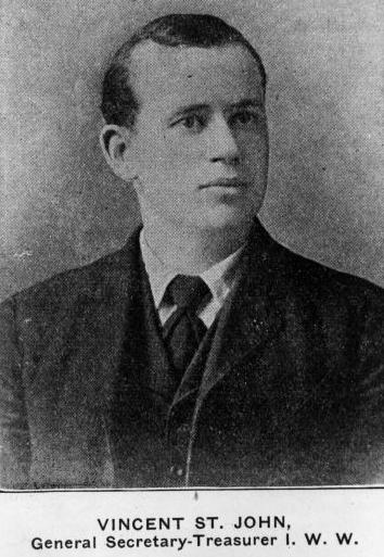 Vincent St John, Gen Sec-Tre IWW, Reuther, bf 1915
