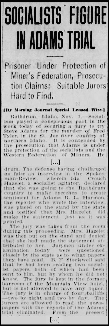 WFM, Adams Trial Rathdrum, Abq Jr Nov 2, 1907