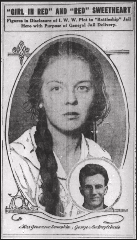 WWIR, IWW, Andreytchine Red Sweetheart, Chg Tb Nov 11, 1917