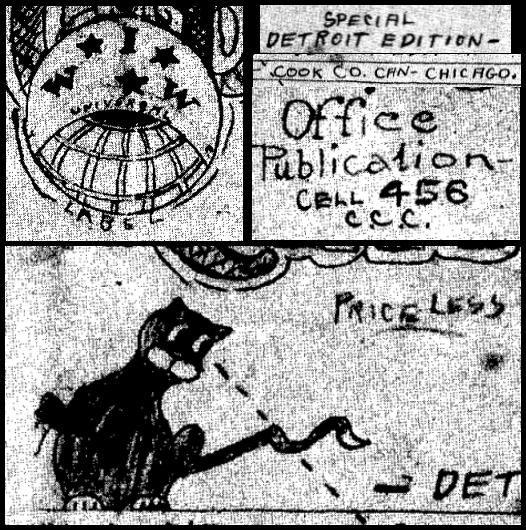 WWIR, IWW Chg Cook Co Jail Can Opener Sabo Cat, Nov 15, 1917