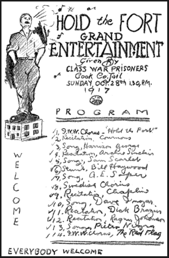 WWIR, IWW, Cook Co Jail Entertainment, ISR Nov 1917