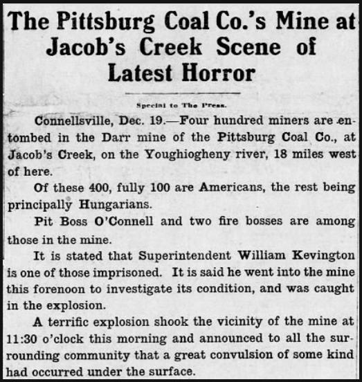 MnDs Darr, Jacob's Creek PA, Ptt Prs, Dec 19, 1907