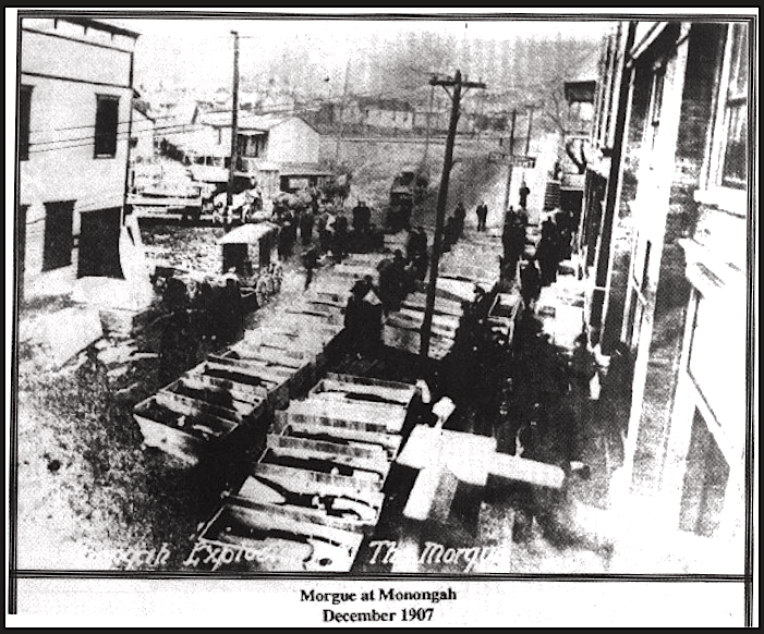 Monongah MnDs, Morgue, Dec 1907