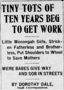 Monongah MnDs, Tots Beg for Work, Ptt Prs, Dec 10, 1907