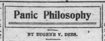 Panic Philosophy by EVD, AtR Dec 28, 1907