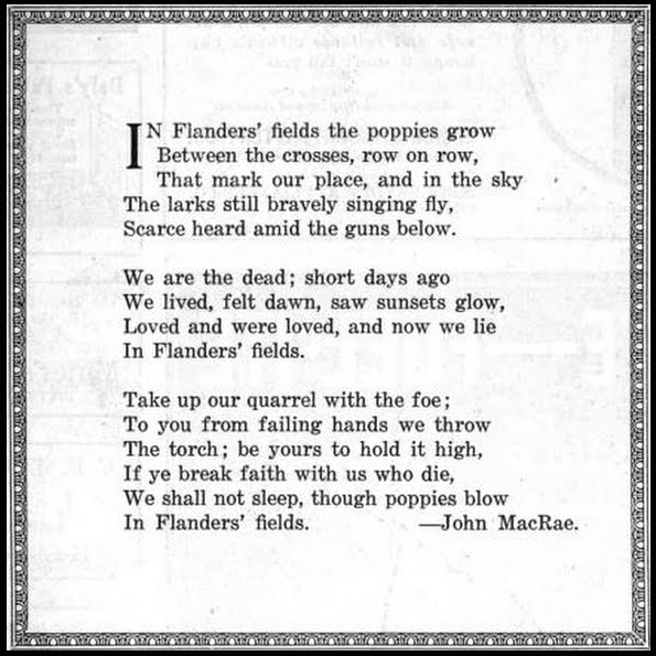 UMWJ Cover, Poem Flanders Field, Dec 27, 1917